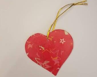 Red heart chritmas tree decoration
