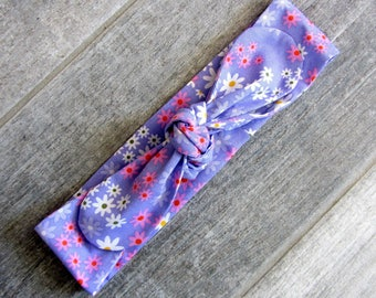 """Headband tie """"petites fleurs"""""""