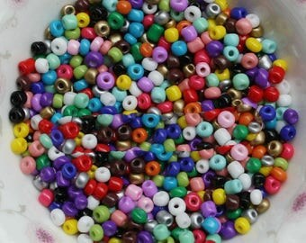 1000 glass round beads multicolor 2mm within 15 days