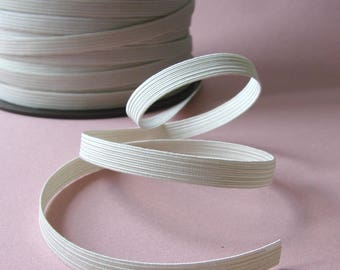 Elastic band, 9 mm, white, sold by the yard.