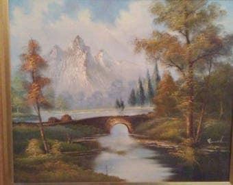 Original Enoch landscape with old brige