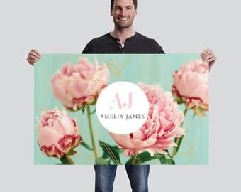 Amelia James Banner (SMALL - 2.5' x 4') | PEONY
