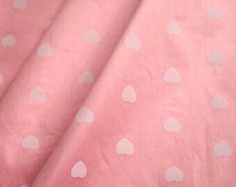 1 x fabric coupon liberty 160x50cm patchwork pink heart 100% cotton