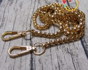 1 piece 120cm chain mesh bag with gold plated lobster clasp 7mm