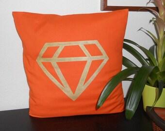 """Pillow cover """"Diamond"""" 40 x 40, 100% cotton orange"""