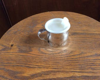 Oneida Silver Plate Baby Cup with lid