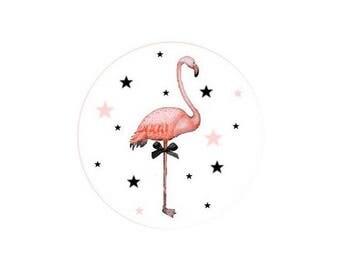 1 cabochon 30 mm glass Flamingo Pink 2-30 mm