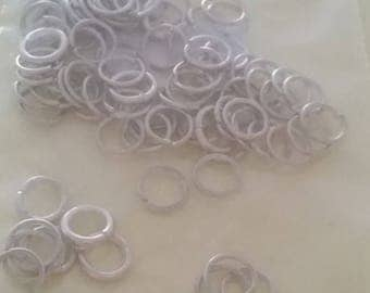 8 mm silver jump rings