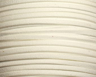 5 Metters - strap suede 3x1.5mm white 4558550003812