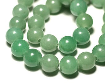 Stone - green Aventurine ball 14 mm bead 1pc - big hole 3mm - 8741140019379
