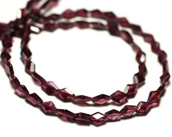 10pc - stone beads - Garnet faceted diamonds 6-7mm - 8741140025820