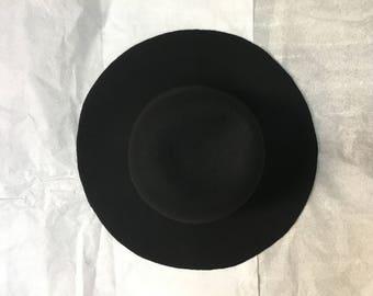 Wool Felt Body for millinery hat making black