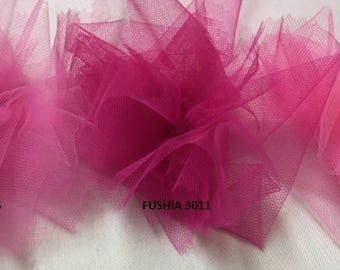 tulle color soft pink width 300 cm
