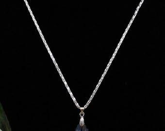 chain and beautiful swarovski crystal and chain