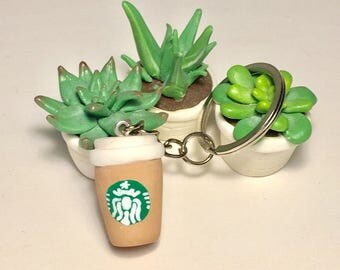 Keyring fimo Starbucks Cup
