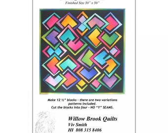 Diamond Magic Pattern #215 from WIllow Brook Quilts