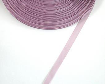5 meters of 10 mm purple organza Ribbon
