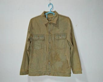 DENIM DEBUE Vintage Men's Denim Nice Faded Button-Up Jacket