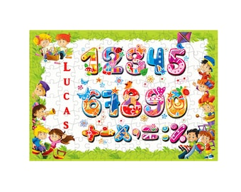 252 puzzle pieces number personalized first name choice ref 97