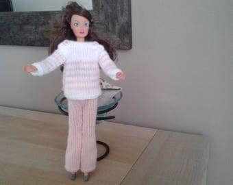 Hand knitted doll clothes