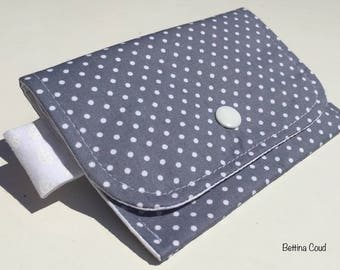 Wallet cotton zip and snap