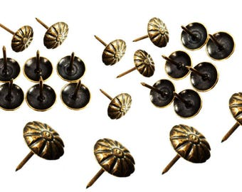 Set of 60 nail decorative upholstery tacks to embellish your furniture safe 16 * 10 mm frame jewelry box