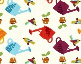 Patchwork fabric garden sprinklers timeless treasures cream