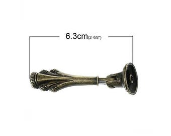 Accessory handle for drawer drooping bronze tone model F 6.3 cm long drape pattern.