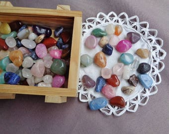 Lot of 7 stone,7 semi precious stones,rolled stones,Lithotherapy,collections