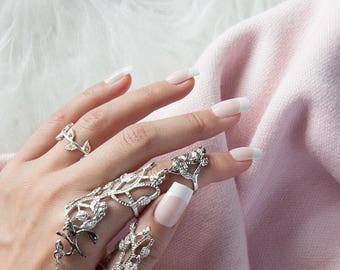 Linked Double Finger Vine Ring