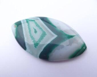 Pendentif forme ellipse en agate teintée LAYA-304
