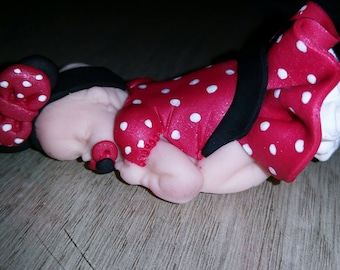 Baby minnie red polka dot skirt