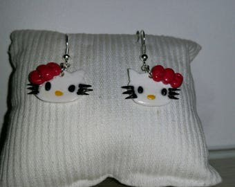 Hand made kyti Fimo earrings
