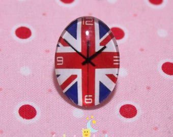 Glass cabochon oval pattern dials England 18 / 25mm