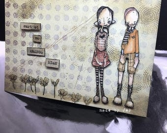 """card """"especially doesn't"""" teen couple grunge stampotique touch"""