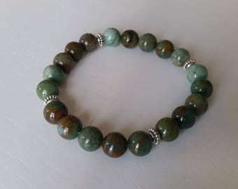 Bloodstone Bracelet - 8 mm beads