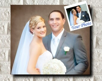 Custom Family Portrait, Custom Portrait Couple, Portrait from Photo, Engagement Portrait, Custom Canvas, Personalized Wedding Portrait