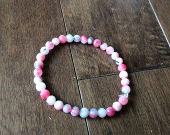Glass Multicolored Pink Bracelet