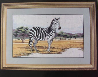 cross stitch Kit counted janlynn: Zebra