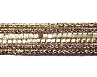 Ribbon sequin Lurex copper 1.9 cm x 1 meter