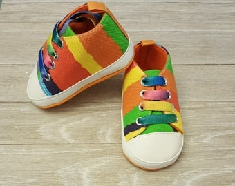 Multicolored Kids Children Girls soft bottom baby Shoes
