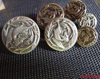 lot of buttons antique metal