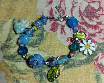 Unique Underwater Garden Themed Charm Bracelet