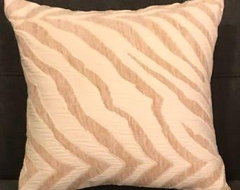 Albino Zebra Pillow Cover