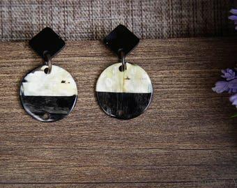 Buffalo Horn Earrings Horn Earrings Horn Jewelry Horn Accessories TA 26025