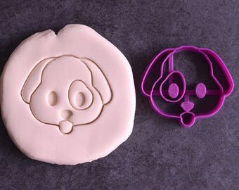 Emoji dog cookie cutter