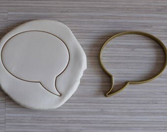 Cartoon bubble cookie cutter