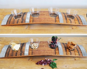 Barrel Stave Snack Tray