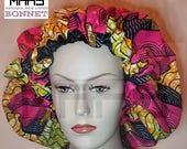 MAHS Ankara Silk Lined Bonnet