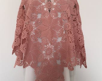 Old poncho pink Mercerized cotton
